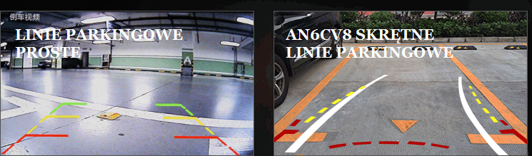 NAWIGACJA VW LINIE PARKINGOWE SKRĘTNE AN6CV8