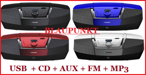 RADIOODTWARZACZ BOOMBOX BLAUPUNKT BB12 CD, MP3, USB