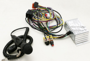MICROPHONE KIT AND AMPLIFIER FOR AUTOMOTIVE 12V BUS ON CABLE