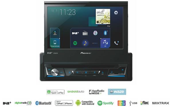 ANDROID RADIO  1 DIN Z WYSUWANYM MONITOREM PIONEER AVHZ7000 DAB+