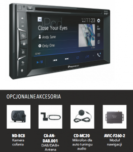MULTIMEDIA PIONEER AVH-A3100DAB 2 DIN 6,2 CD DVD USB BT wej0