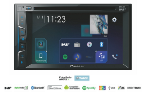STACJA MULTIMEDIA PIONEER AVH-A3100DAB 2 DIN 6,2 CD DVD USB0