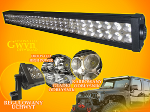 LISTWA LED GWYN 180 W CW OFF ROAD ŚWIATŁO