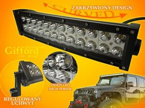 LISTWA LED GIFFORD 72 W CW OFF ROAD CURVED