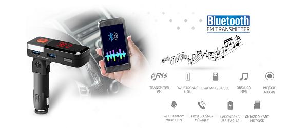 przesyłanie muzyki samochodowy transmiter